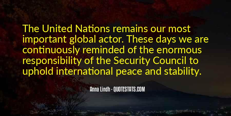 Quotes About The United Nations Security Council #94230