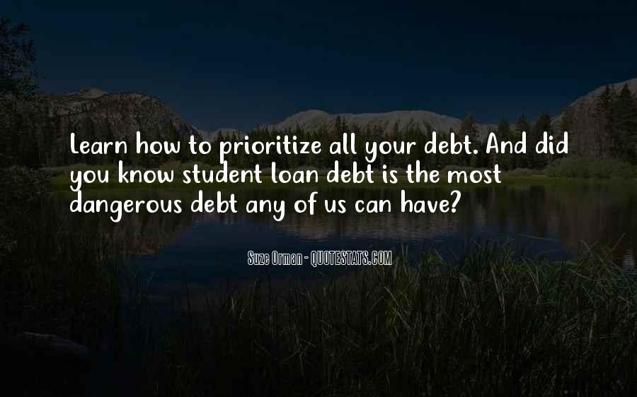 Quotes About Student Debt #1137551