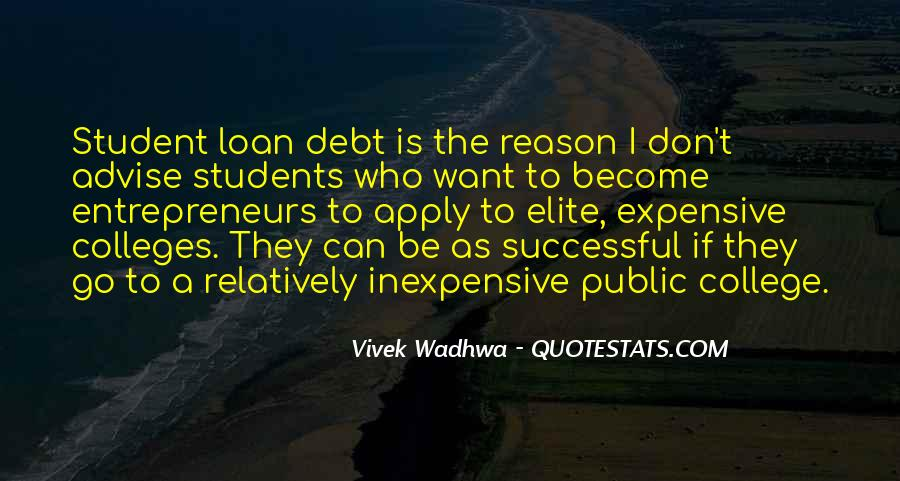 Quotes About Student Debt #846026