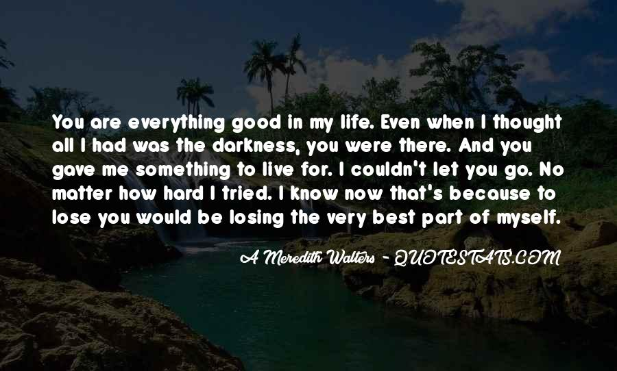Quotes About Hard To Let You Go #1177677