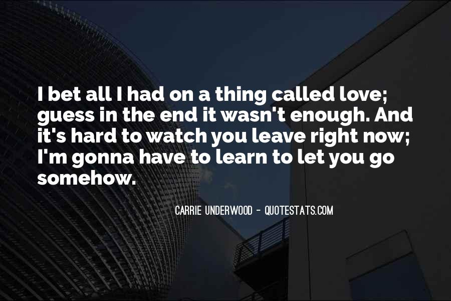 Quotes About Hard To Let You Go #89045