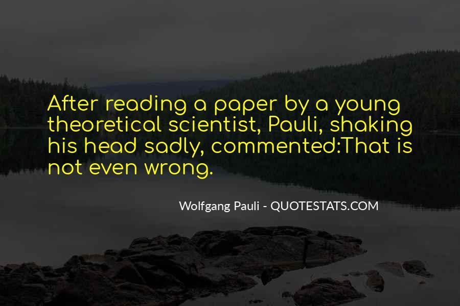 Wolfgang Pauli Quotes #321556