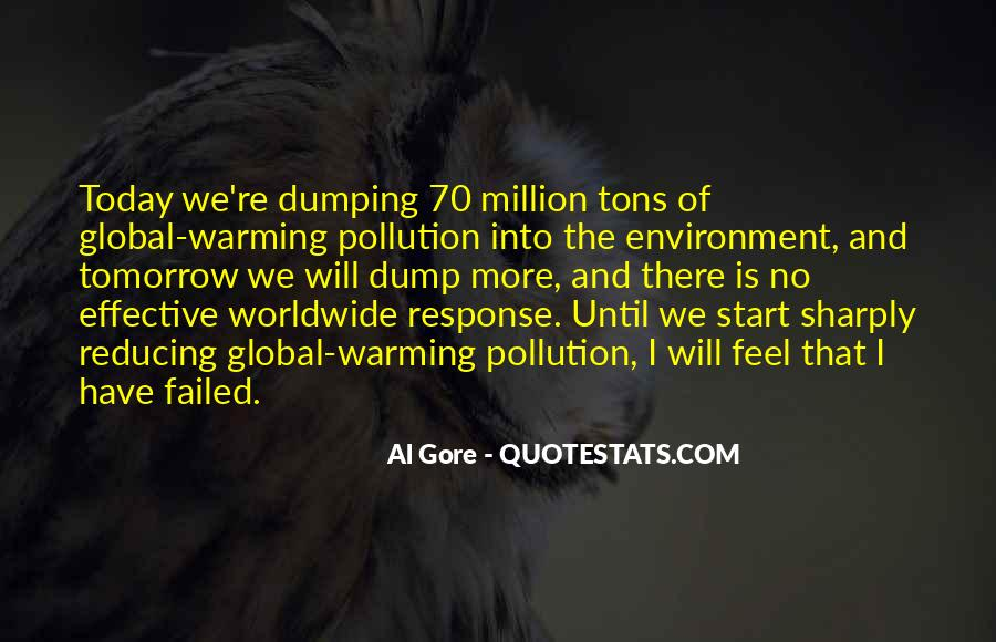 Quotes About Pollution Global Warming #1566984