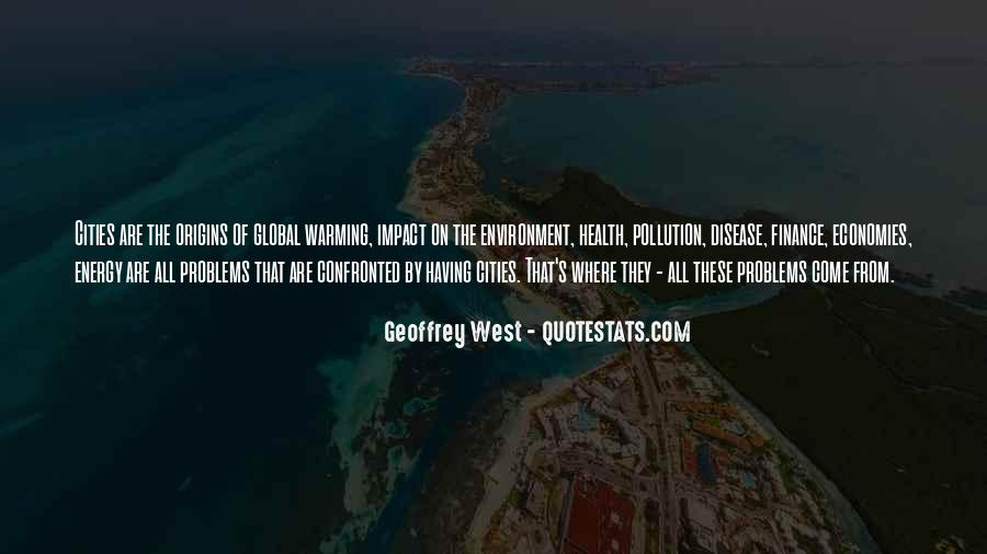 Quotes About Pollution Global Warming #1581589
