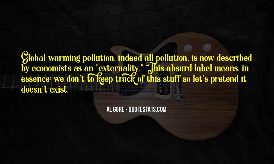 Quotes About Pollution Global Warming #1737752