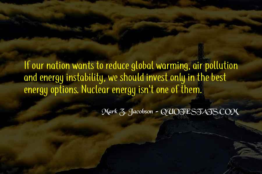 Quotes About Pollution Global Warming #470278