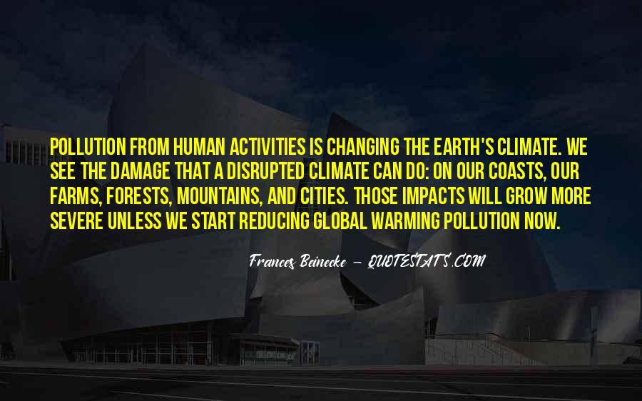 Quotes About Pollution Global Warming #552864