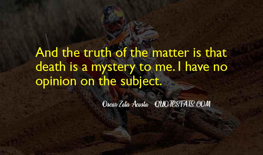 Acosta Quotes #336797