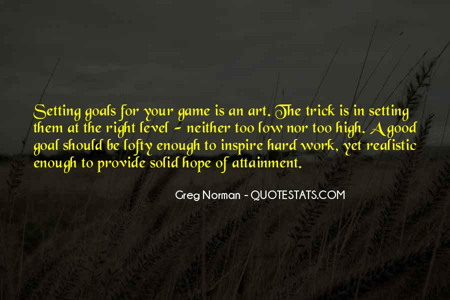 Quotes About Setting Goals Too High #1700730