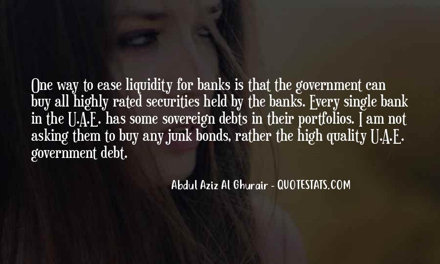 Quotes About Sovereign Debt #1075316