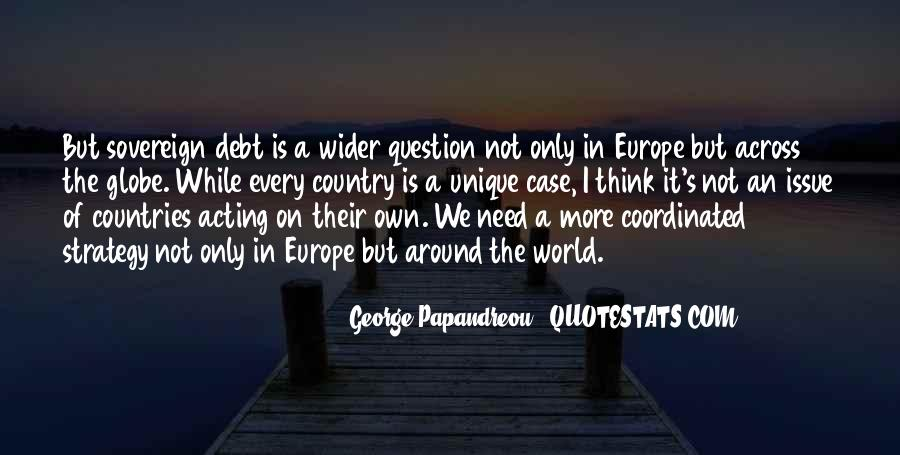 Quotes About Sovereign Debt #1791746