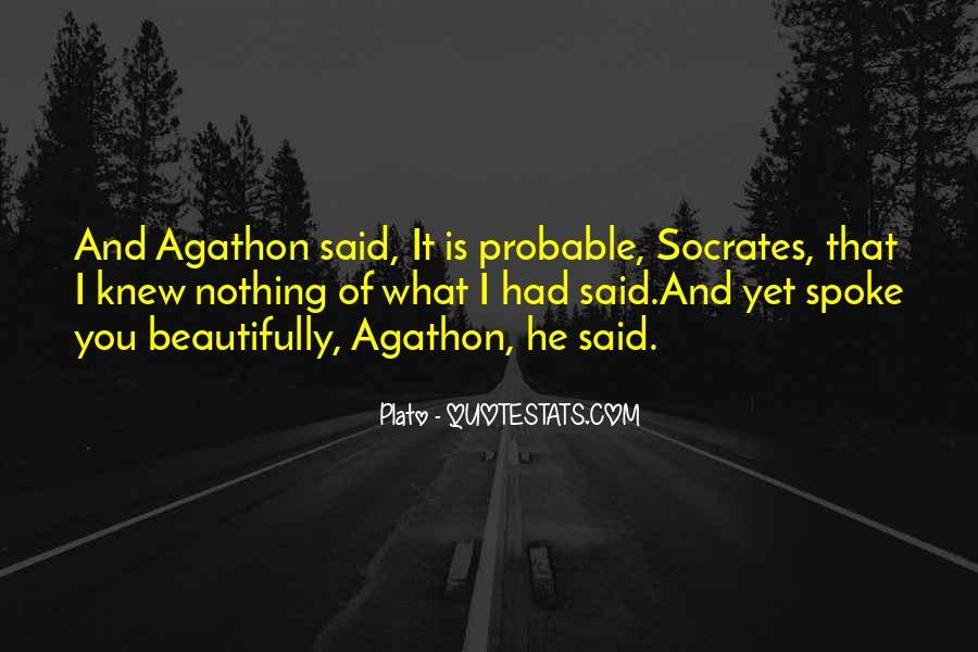 Agathon's Quotes #106450