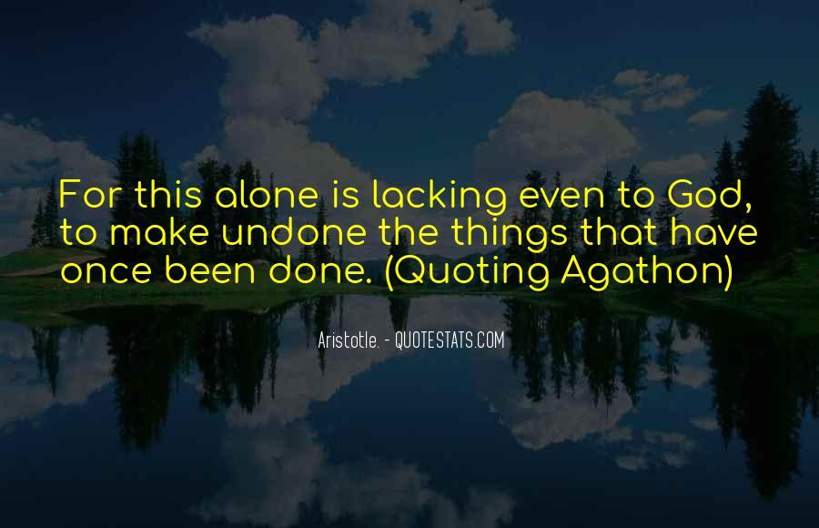 Agathon's Quotes #790178