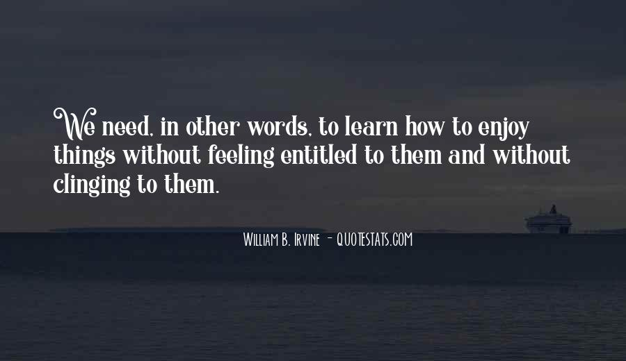 Quotes About Clinging #313222