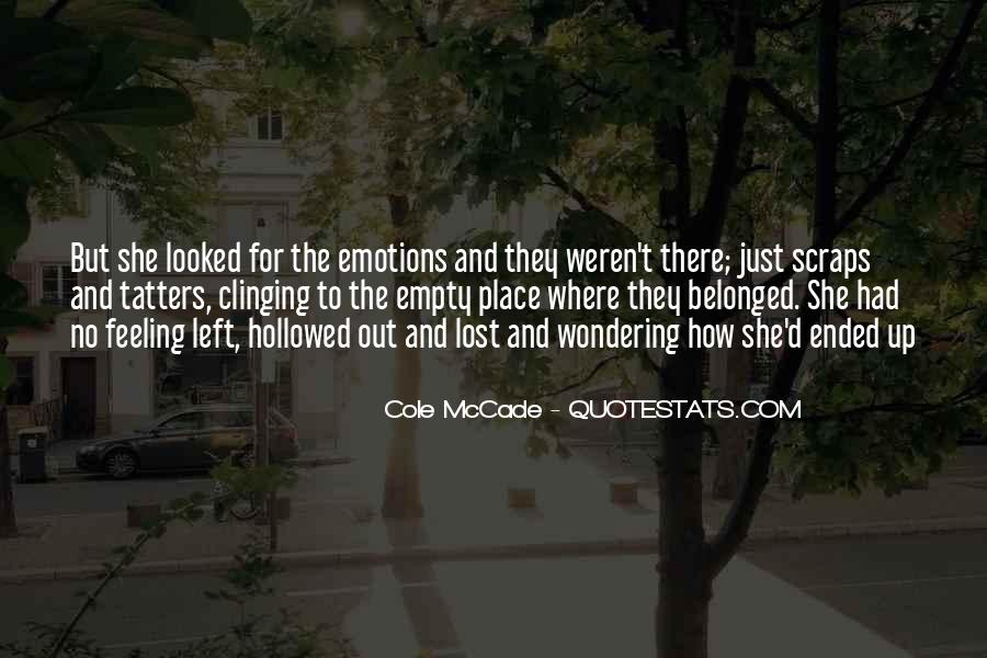 Quotes About Clinging #505022