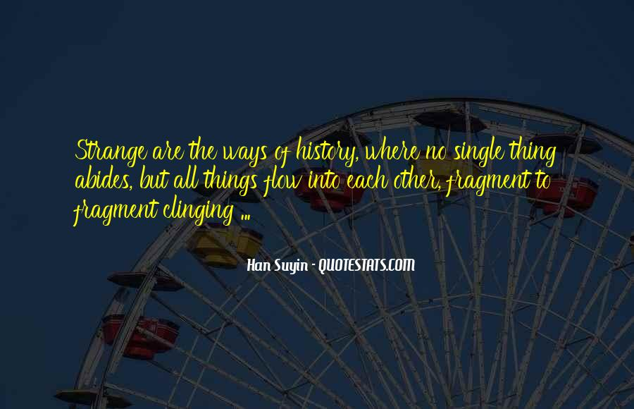 Quotes About Clinging #551869
