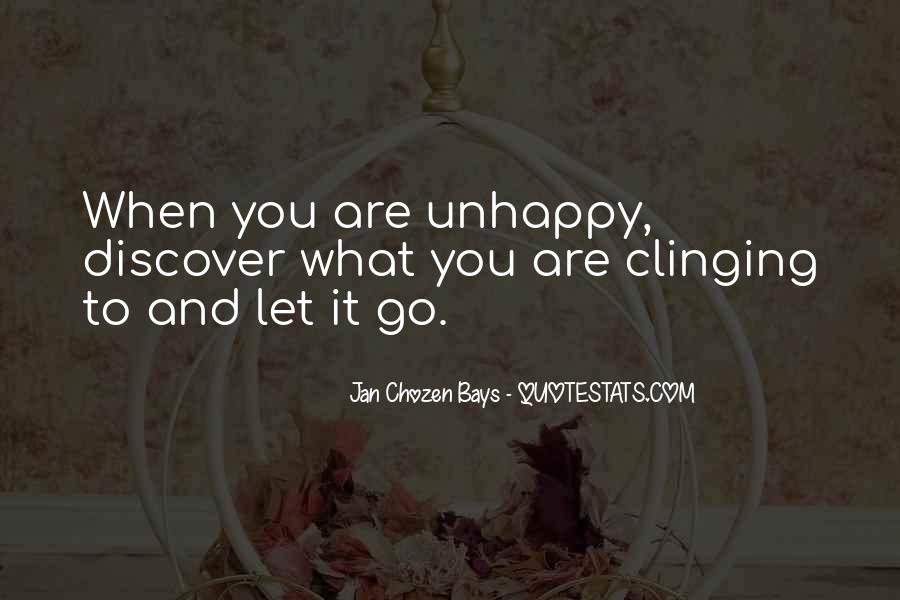 Quotes About Clinging #557364