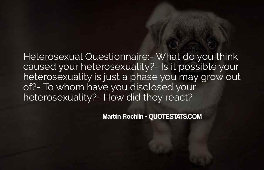 Quotes About Heterosexuality #779895