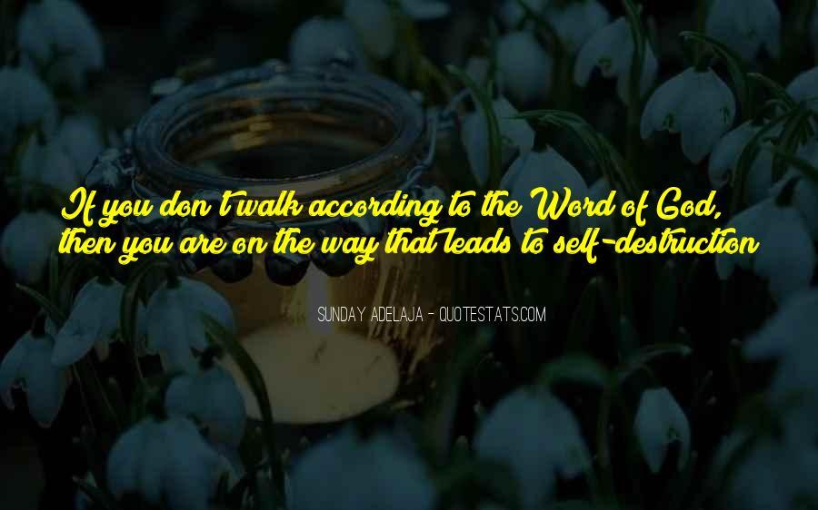 Quotes About Self Destruction #144930