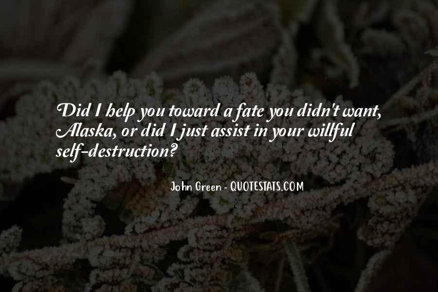 Quotes About Self Destruction #212253