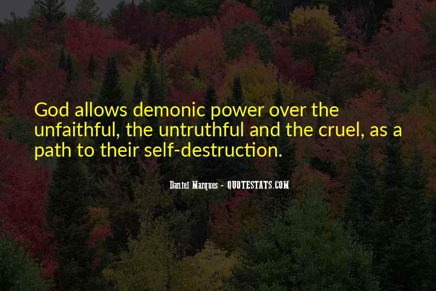 Quotes About Self Destruction #521686