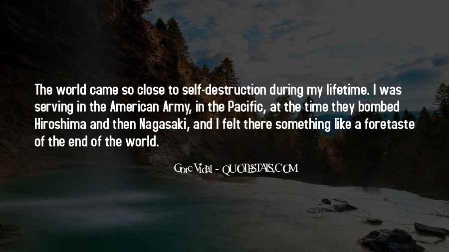 Quotes About Self Destruction #96801