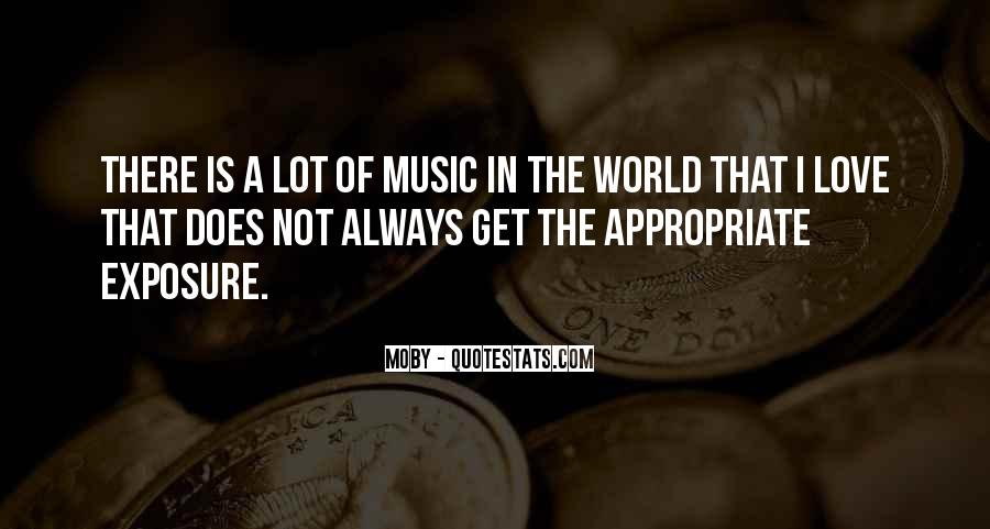 Quotes About The World And Music #113930