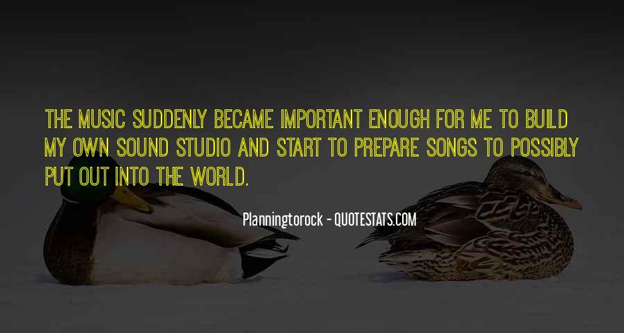 Quotes About The World And Music #16633