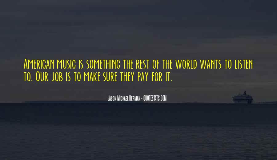 Quotes About The World And Music #62721