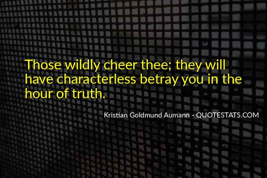 Aumann Quotes #253354