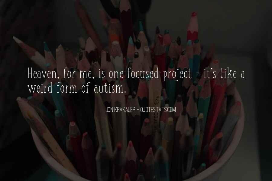 Autism's Quotes #1413793