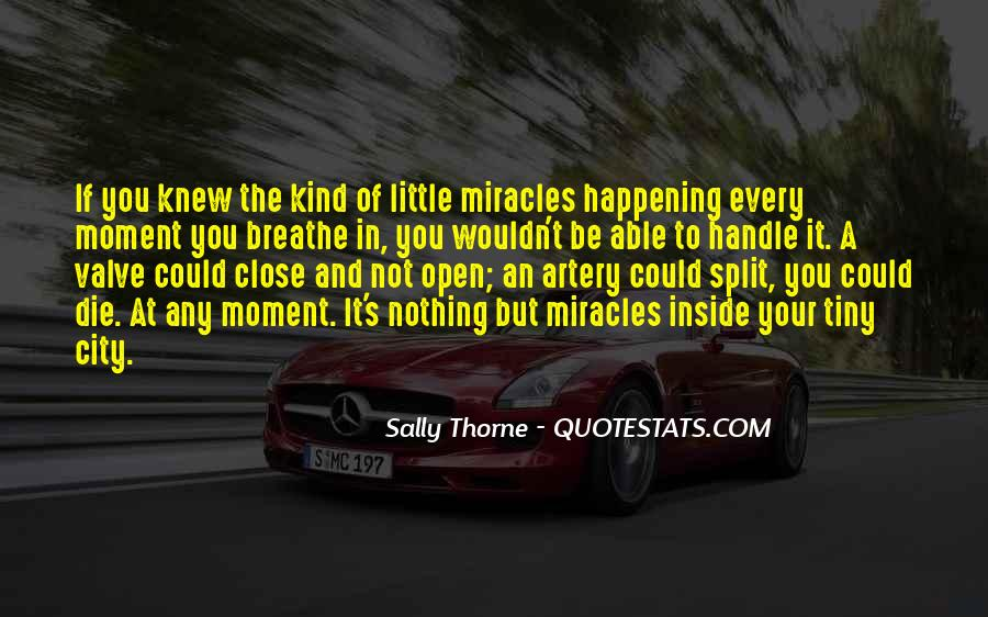 Quotes About Miracles Happening #1871512