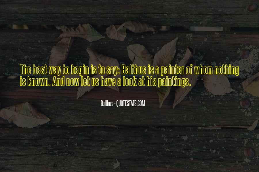 Balthus Quotes #1752467