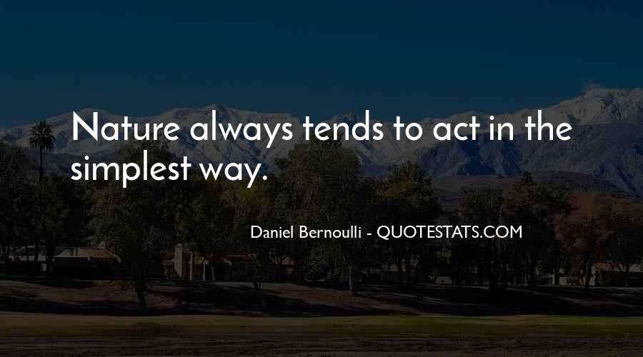Bernoulli's Quotes #262973
