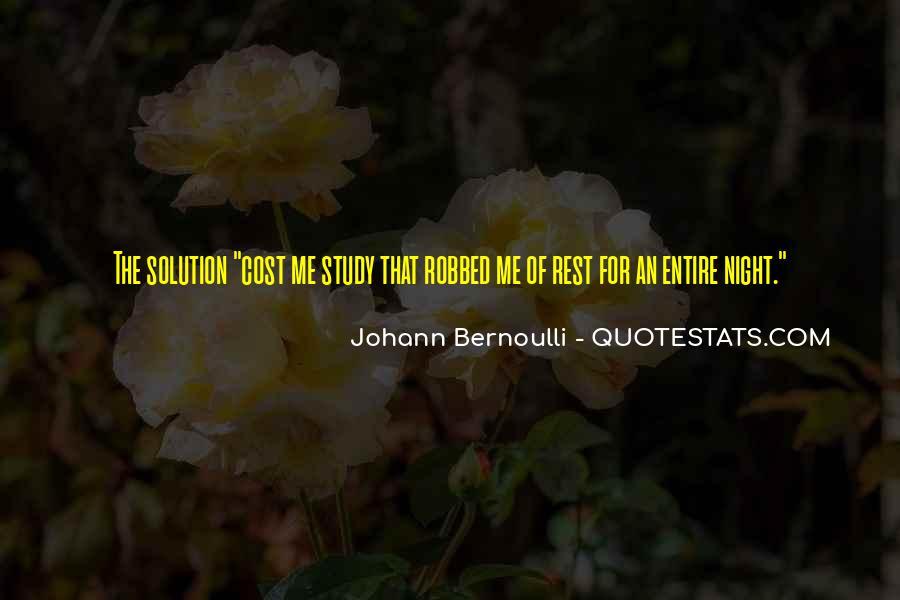 Bernoulli's Quotes #524460