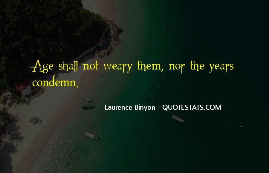 Binyon Quotes #1670355