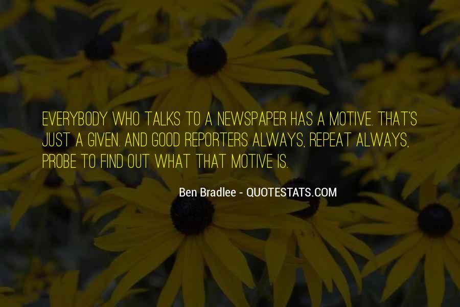 Bradlee's Quotes #196734