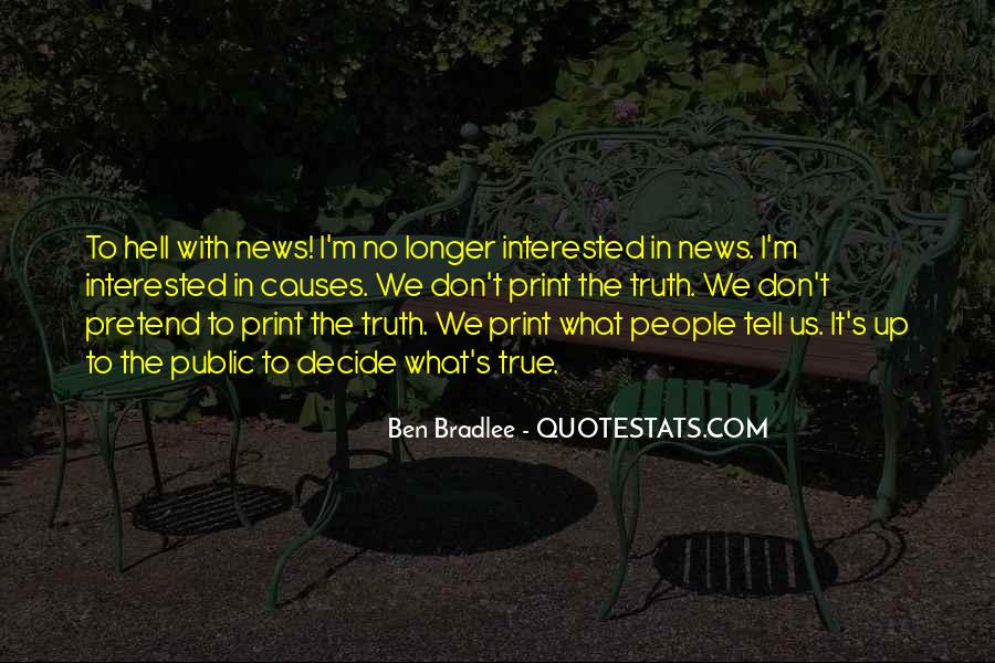 Bradlee's Quotes #220646
