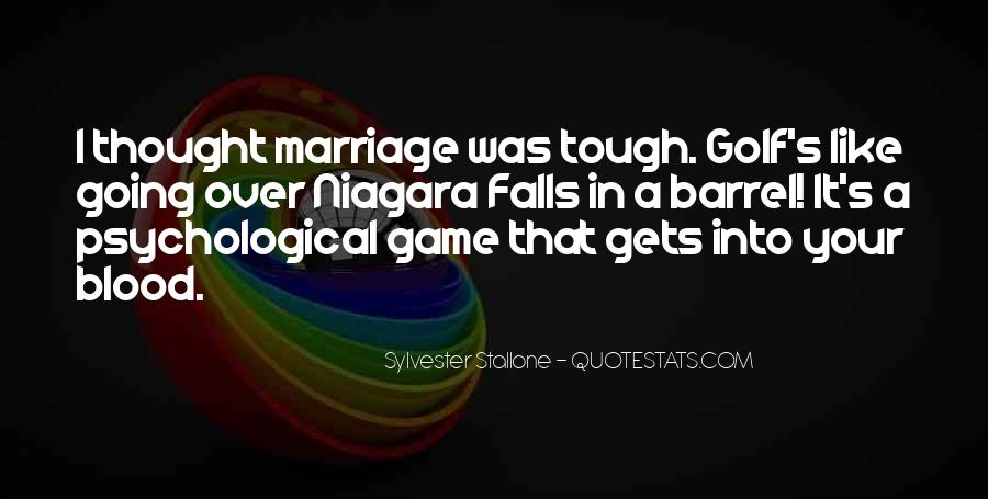 Quotes About Golf And Marriage #1108930
