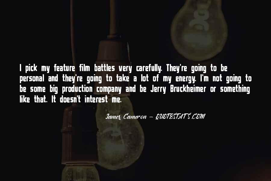 Bruckheimer Quotes #1526692