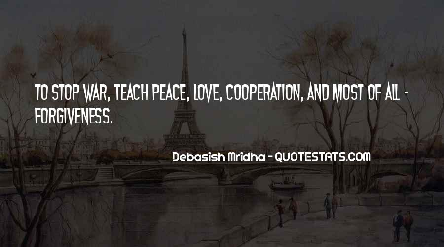 Quotes About Peace And Love #120839