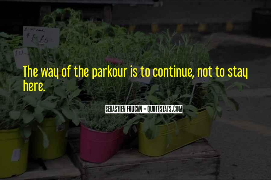 Quotes About Parkour #671205
