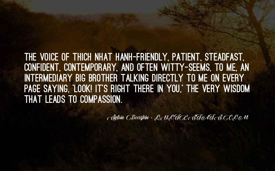 Quotes About Compassion Thich Nhat Hanh #1731135