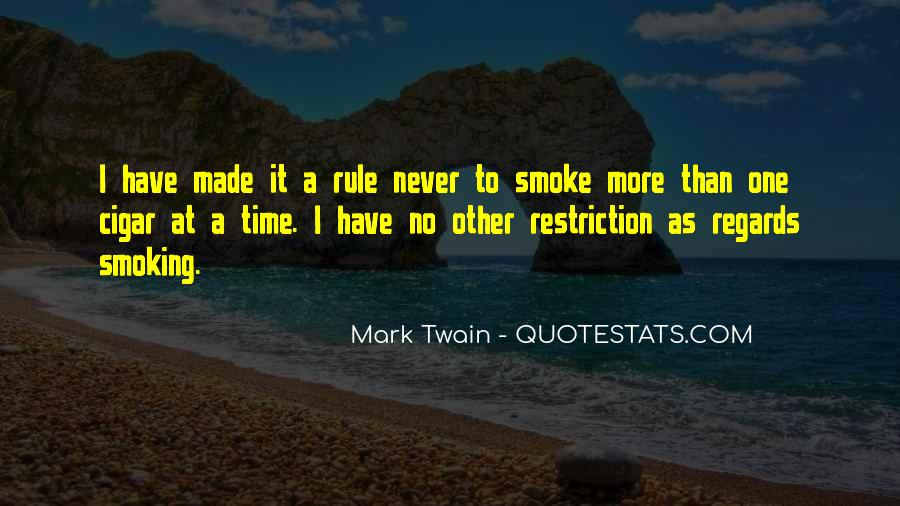 Quotes About Cigar Smoking #1385098