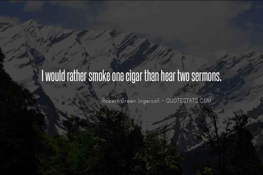 Quotes About Cigar Smoking #1827479