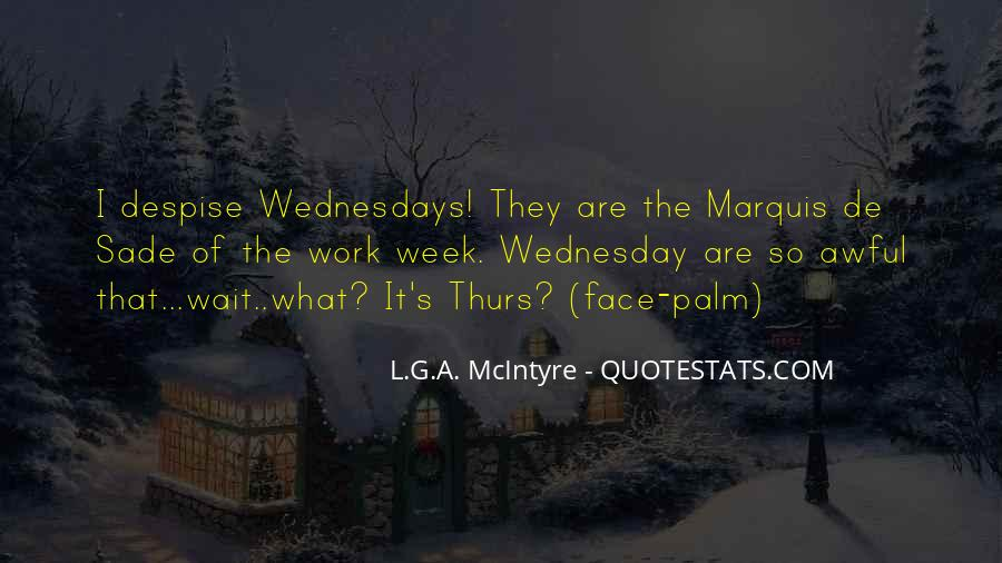 Quotes About Wednesday At Work #289696