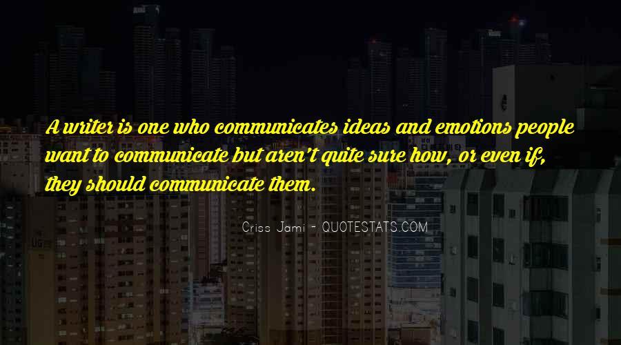 Communicates Quotes #161052