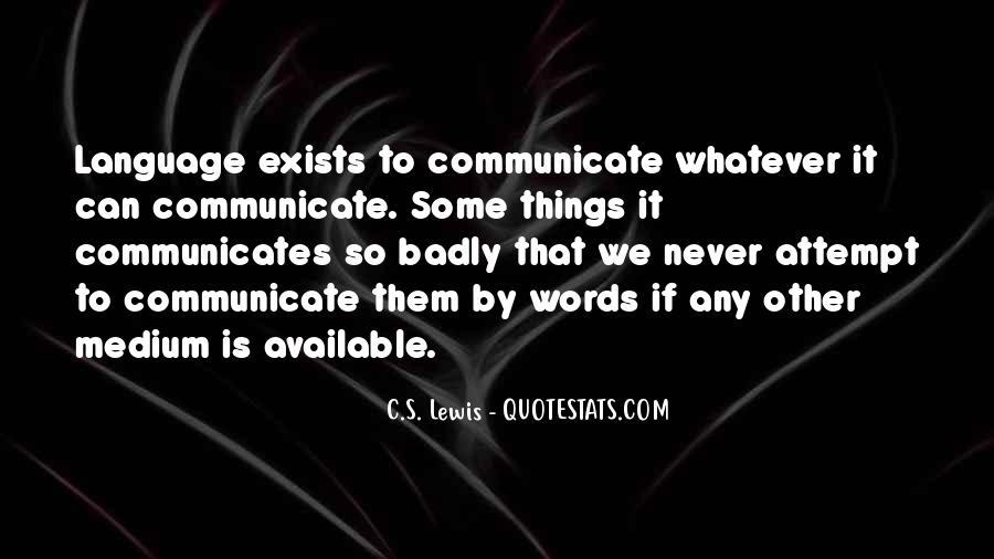 Communicates Quotes #764393