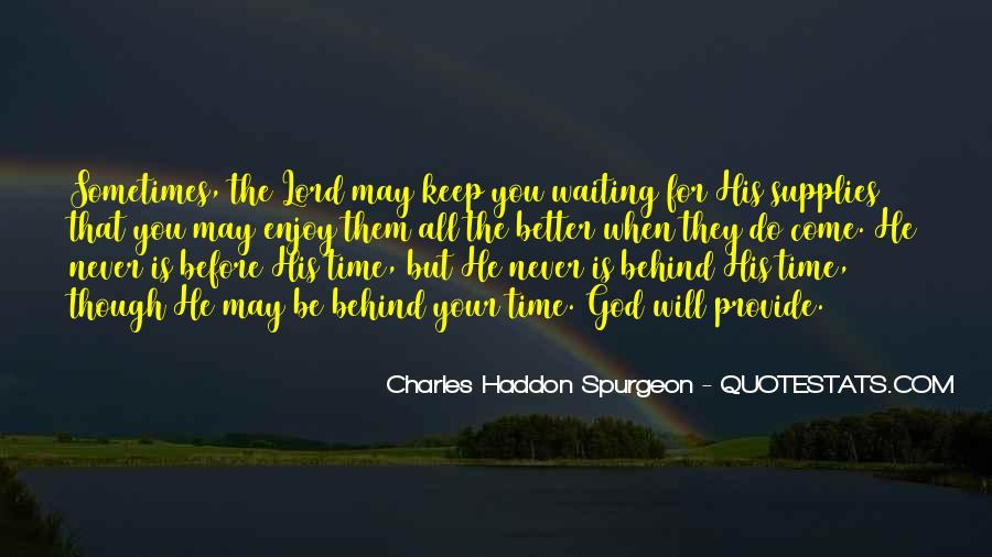 Quotes About Waiting In God's Time #1645596