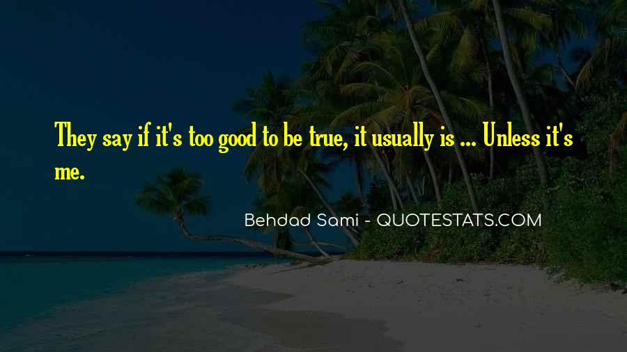 Quotes About Something Being Too Good To Be True #569721